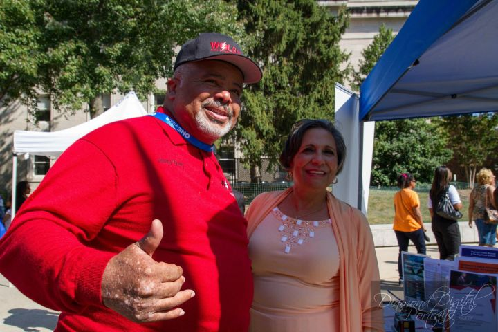 Dr. Cathy Hughes with WOLB's Larry Young