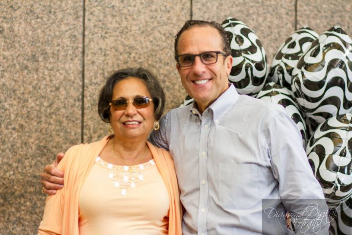 Dr. Cathy Hughes with Radio One Baltimore General Manager Howard Mazer