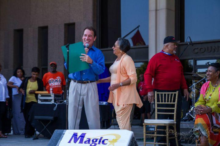 Dr. Cathy Hughes with Baltimore County Executive Kamenetz