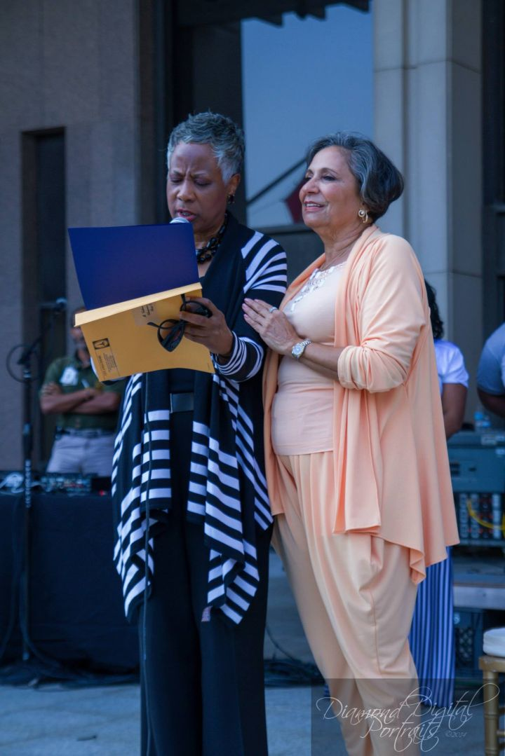 Dr. Cathy Hughes wax figure unveiling