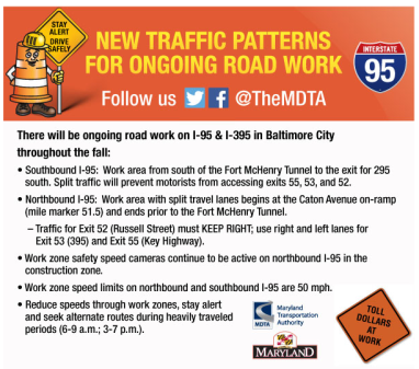 Major Traffic Pattern Changes On I-95 In Baltimore City | 92 Q