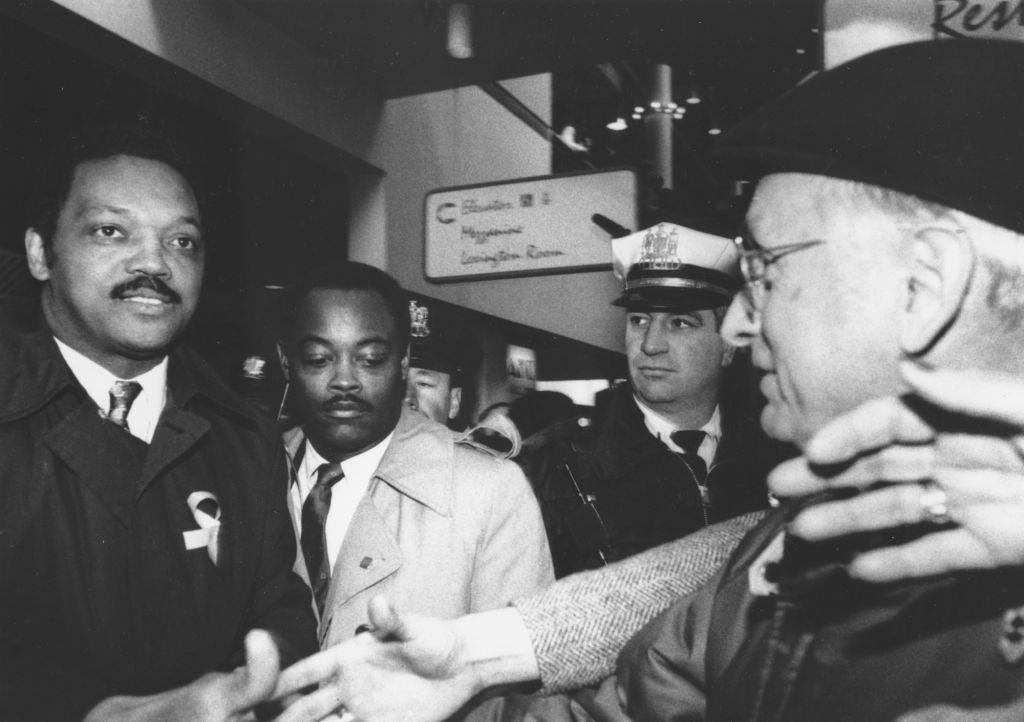 Jesse Jackson pictured at Lexington Market in Baltimore. (Image courtesy of Afro Newspaper/Getty Images)