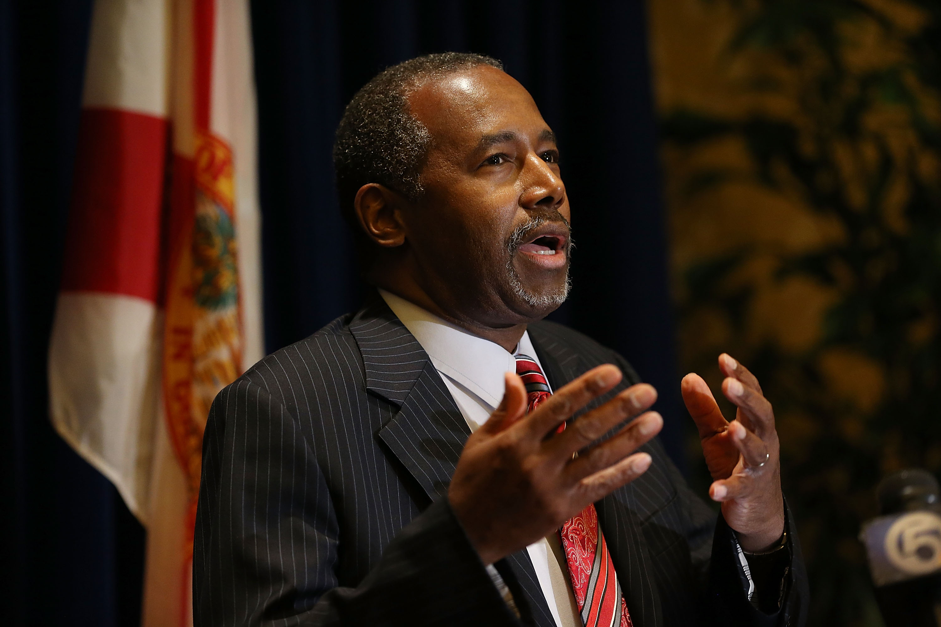 GOP Presidential Candidate Ben Carson Campaigns At Black Republican Caucus Of Southern Florida