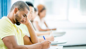 Students Taking a College Exam