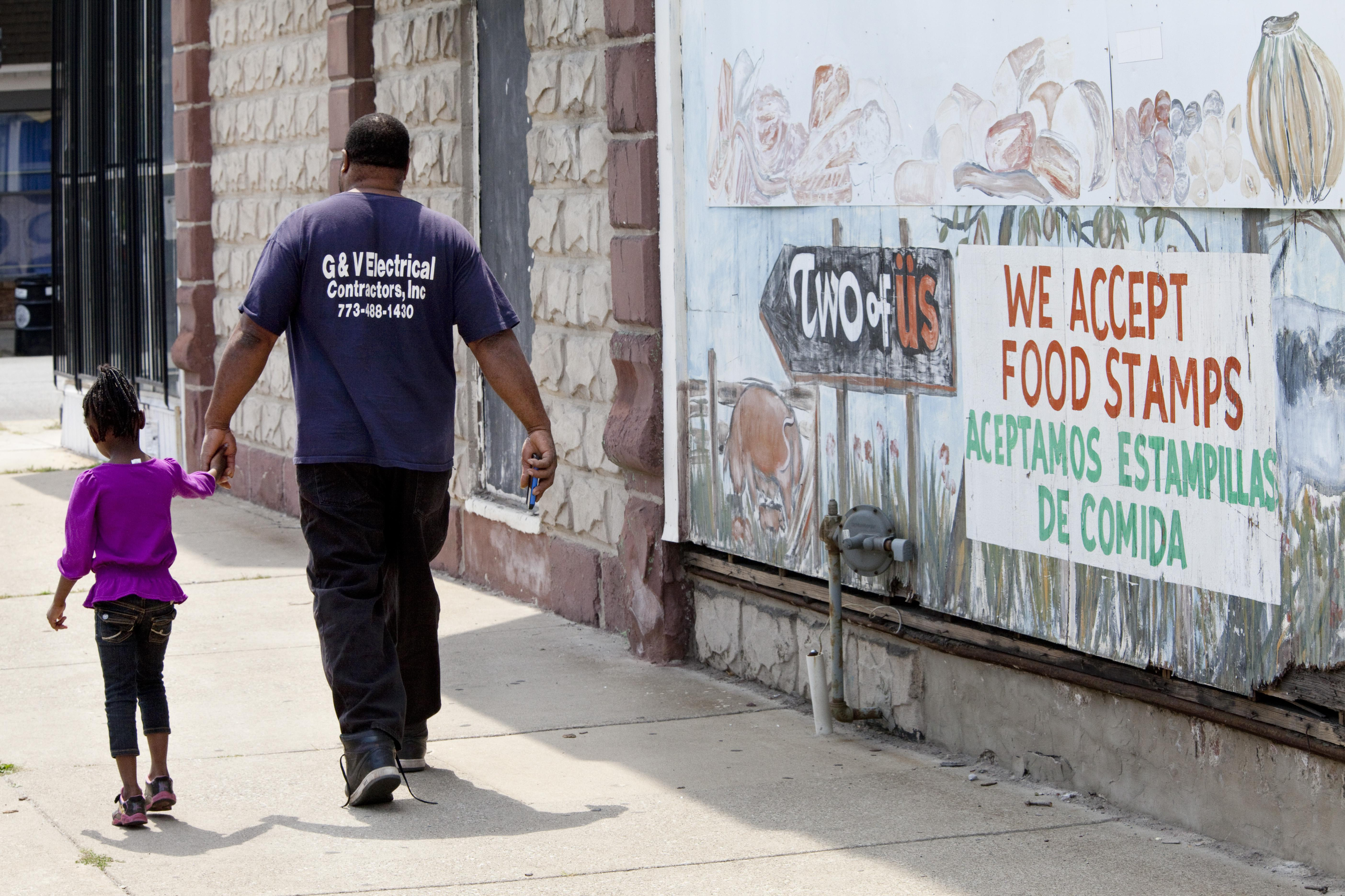 Suburban poverty is a result of the weak economy and people fleeing violence in cities like Chicago