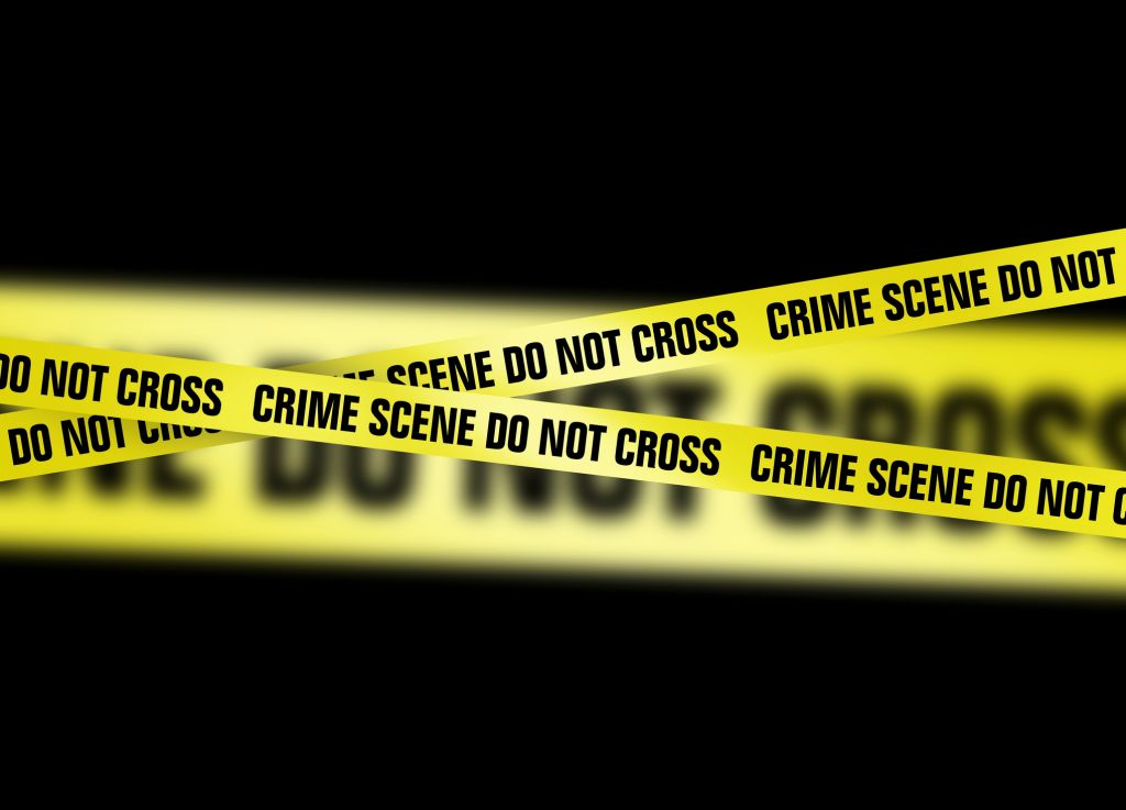 Crime scene tape, artwork