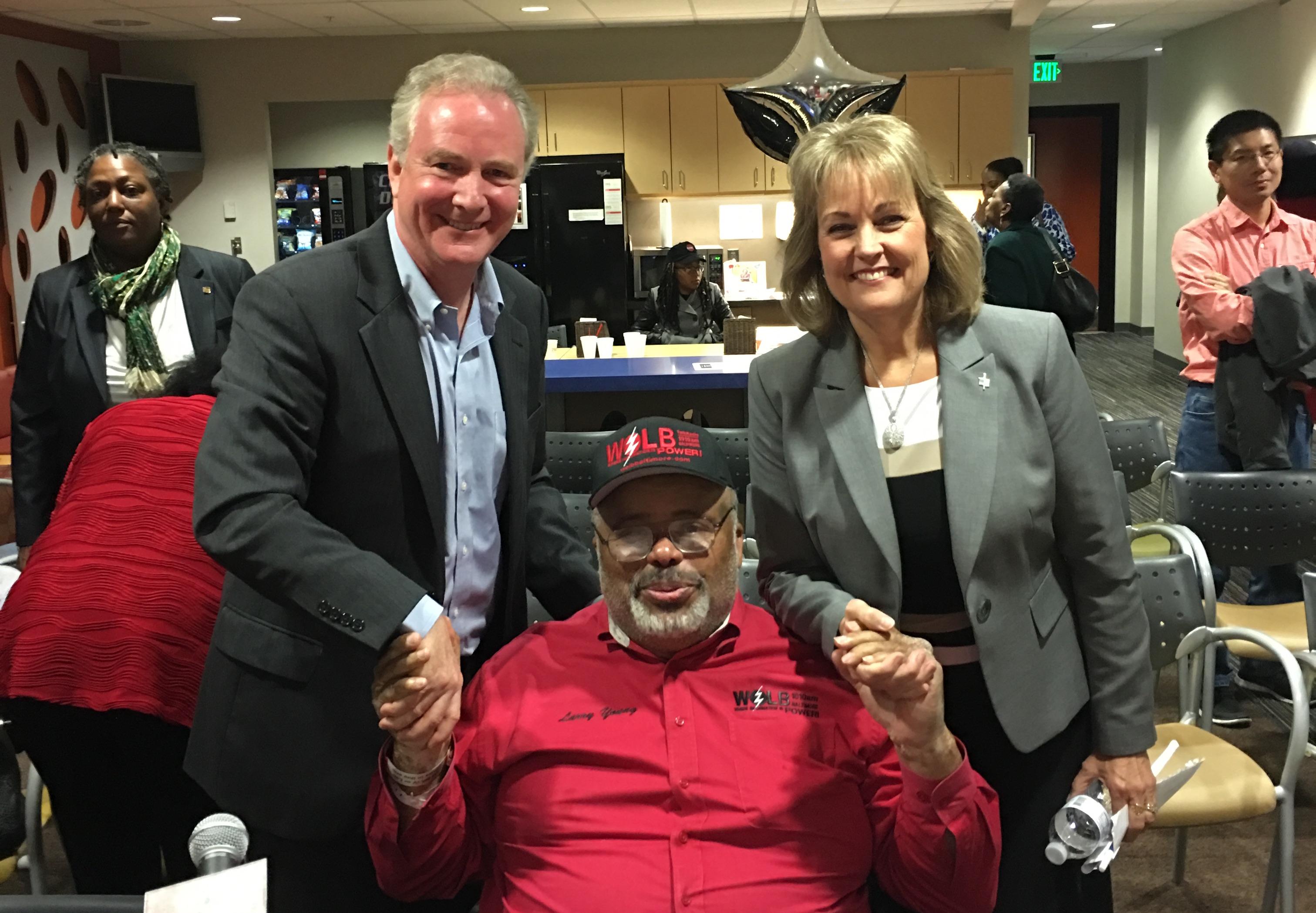 Chris VanHollen, Larry Young and Kathy Szeliga