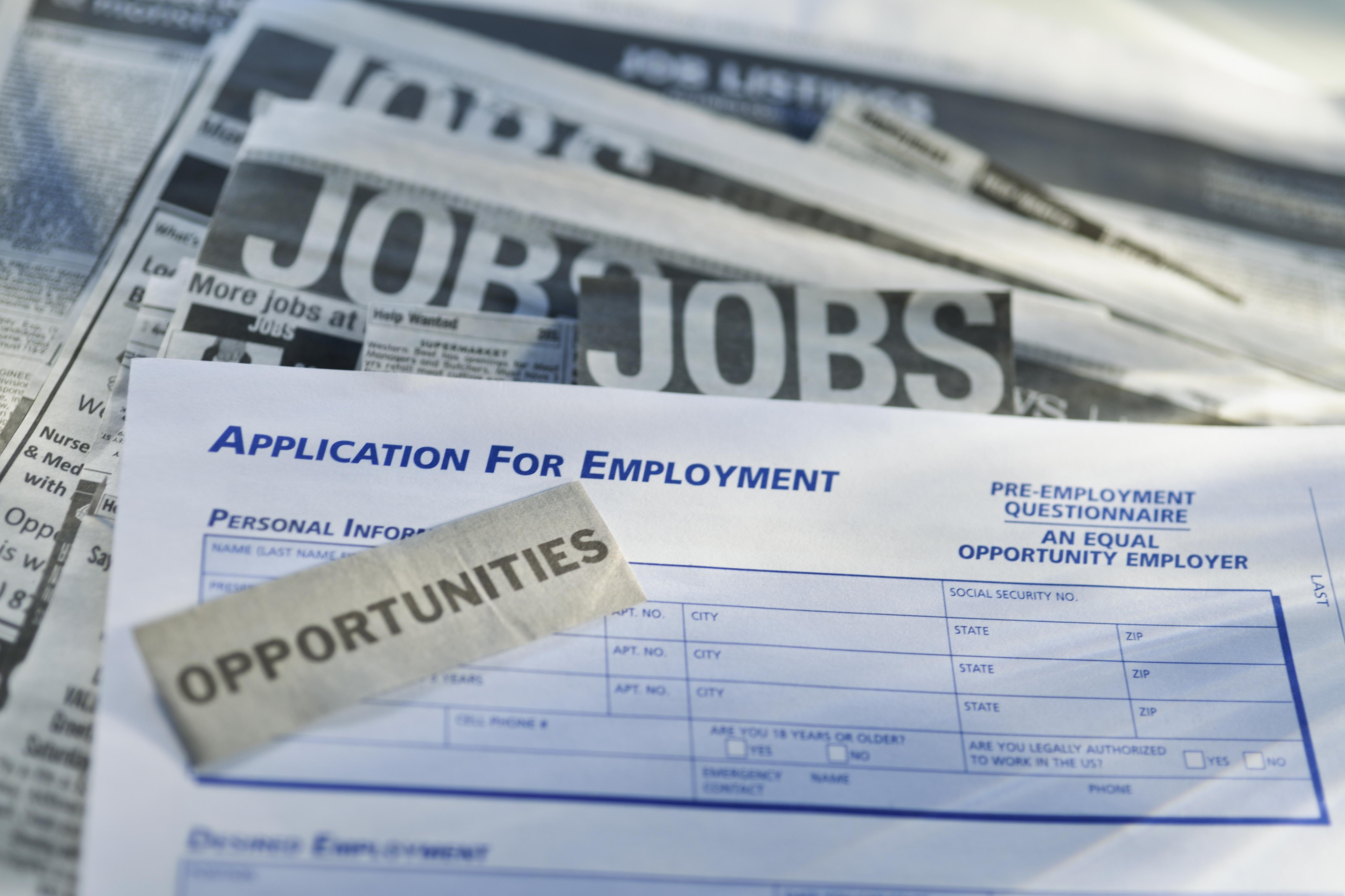 Job listings and application