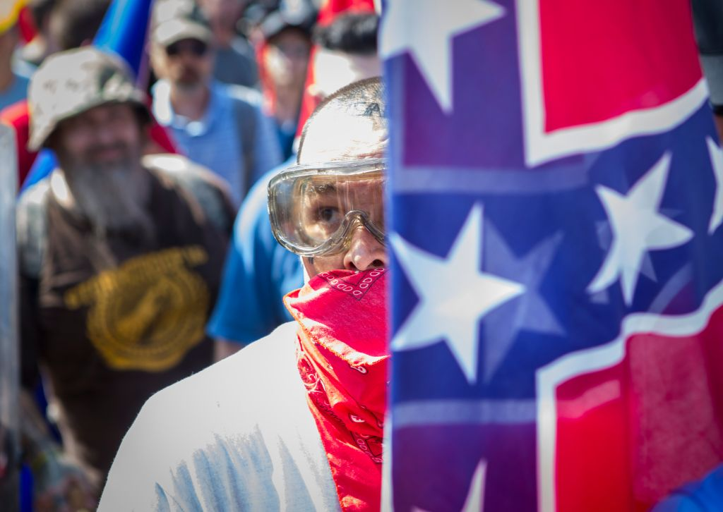 Photos from a KKK rally in Charlottesville, VA