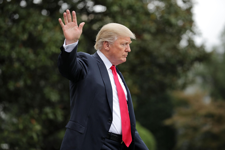 President Trump Departs White House En Route To Pennsylvania