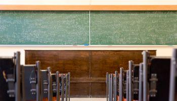 Empty Math Classroom
