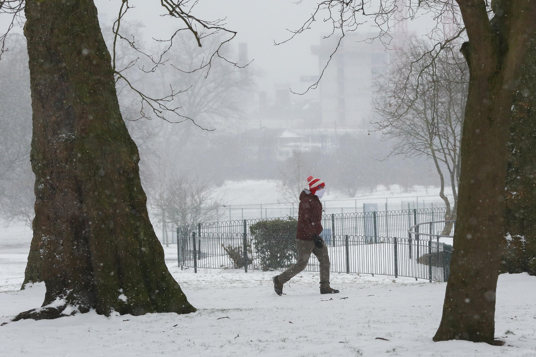 Snowfall in London