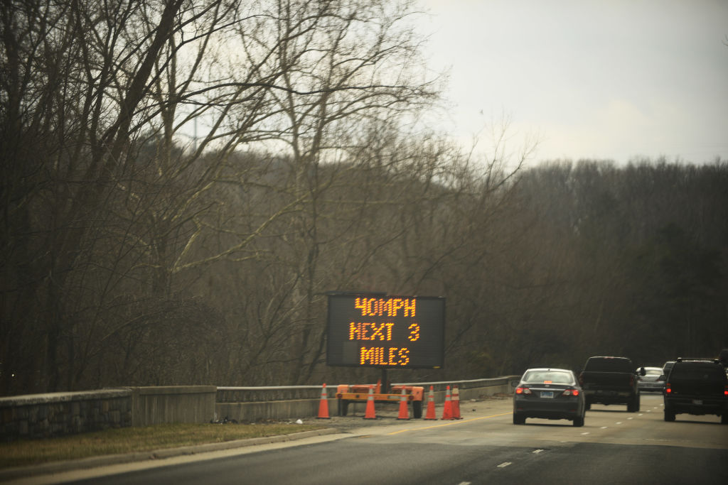 WASHINGTON, DC - MARCH 2: Because of the high amount of pothole