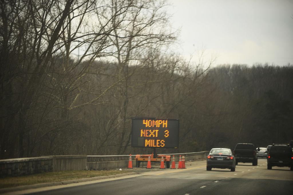 WASHINGTON, DC - MARCH 2: Because of the high amount of pothole