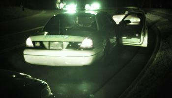Police car during traffic stop