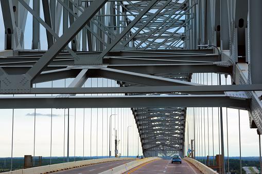 Frances Scott Key Bridge, crossing Patapsco river in Baltimore, Maryland.