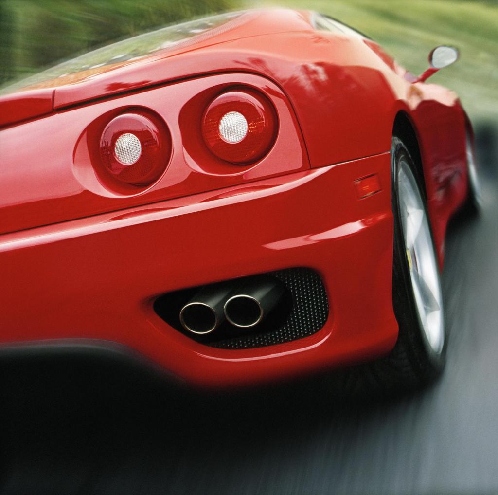 Red car speeding