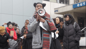 Arissa Hall Protesting