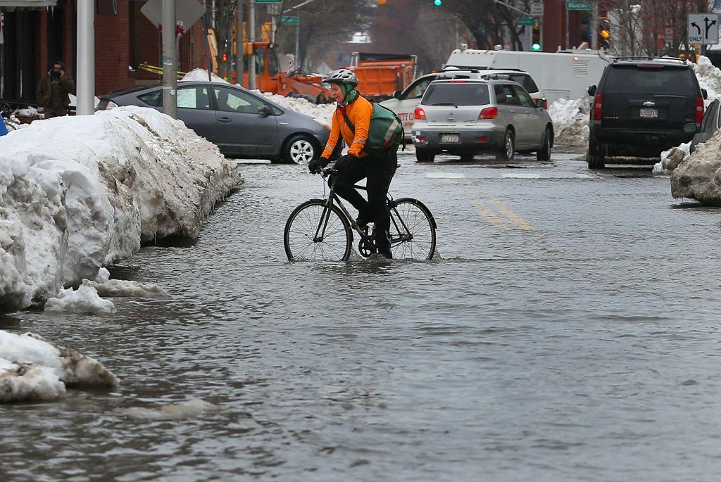 Cambridge Water Main Break Causes Street To Flood