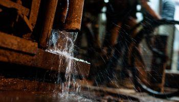 Close-Up Of Pipe Splashing Water