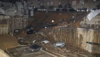 Sinkhole swallows cars and evacuates buildings in Rome