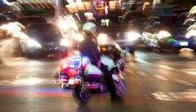 Police in traffic emergency