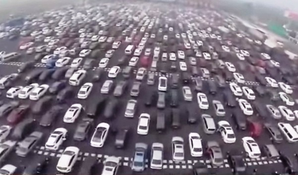 Traffic Jam In China