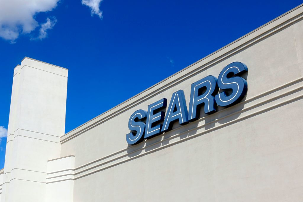 Sears corporate logo on retail building