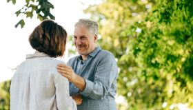Senior couple planning the retirement together
