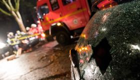 Traffic accident after car race in Hamburg-Horn