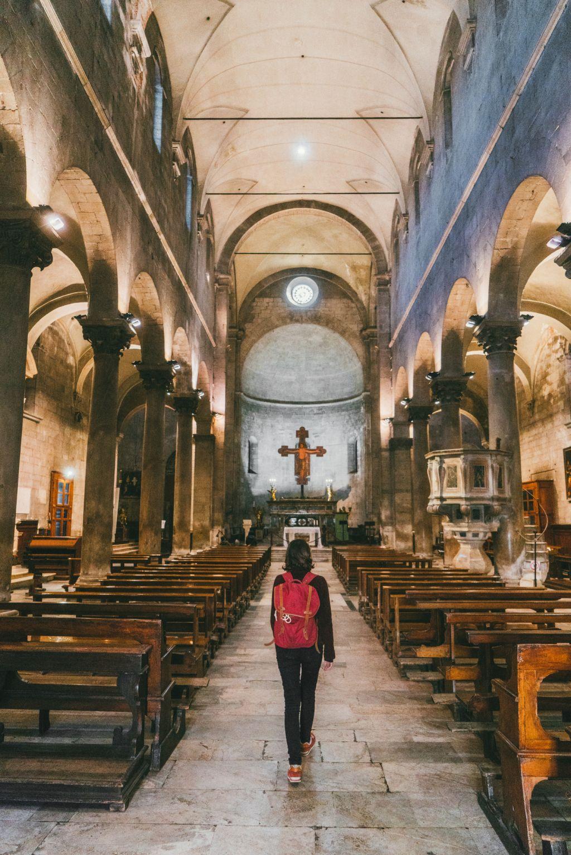 Woman in catholic church
