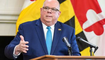 Governor Larry Hogan holds a press conference announcing Stage One of the 'Maryland roadmap to Recovery.' Governor's Reception Room State House