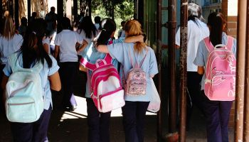 Students at Kingsgrove High School, which has a seen an increase in the number o