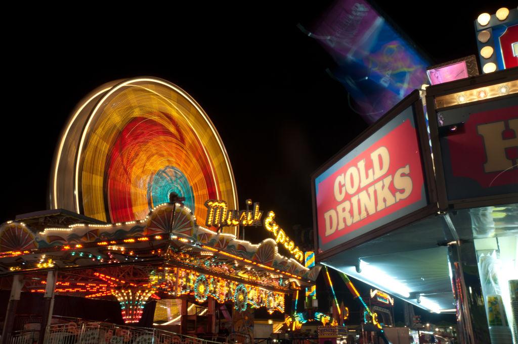Amusement park at the Maryland State Fair, Timonium MD