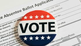 Vote pin on absentee ballot application