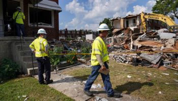 Baltimore Rowhouse Explosion Aftermath
